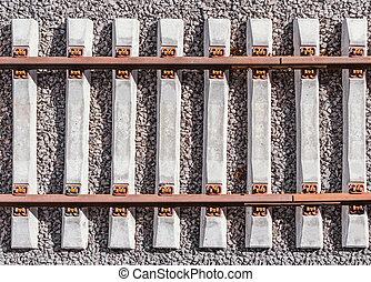 nouveau, ferroviaire, bridge., ligne, vue