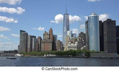 nouveau, financier, york, district, ville