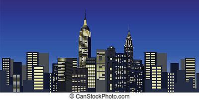 nouveau, gratte-ciel, york