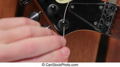 nouveau, guitare, électrique, instruments à cordes