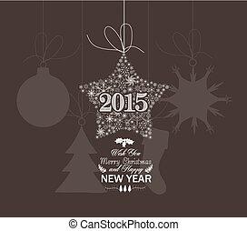 nouveau, heureux, étoile, noël, année