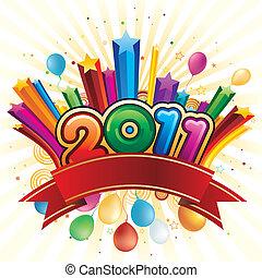 nouveau, heureux, 2011, année