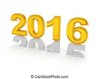 nouveau, heureux, 2016., année