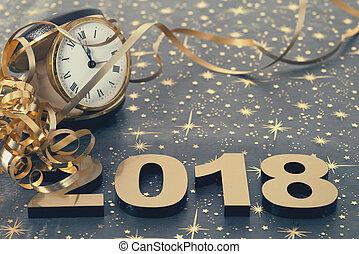 nouveau, heureux, 2018, année