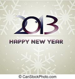 nouveau, heureux, année