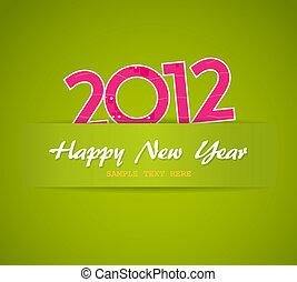nouveau, heureux, card., année
