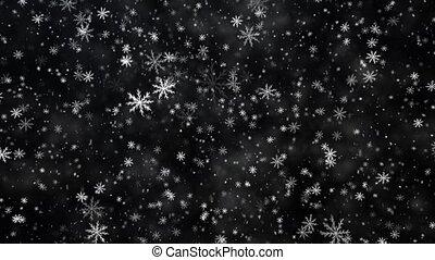 nouveau, hiver, fond, année