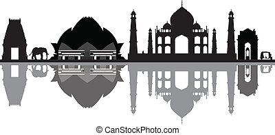 nouveau, horizon, delhi, inde