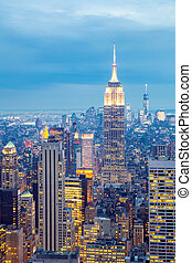 nouveau, horizon, york, ville