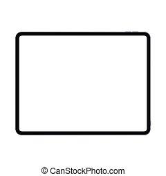nouveau, illustration., vecteur, orientation, version, tampon, branché, pro, cadre, conception, prime, horizontal, réaliste, mince, tablette