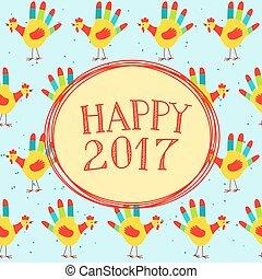 nouveau, message, heureux, année