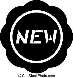 nouveau, message, icône