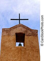 nouveau mexique, adobe, église