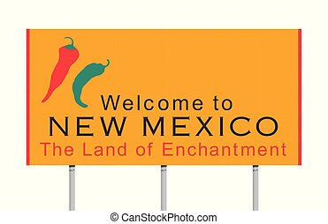 nouveau mexique, panneaux signalisations, accueil