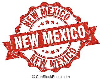 nouveau mexique, rond, ruban, cachet