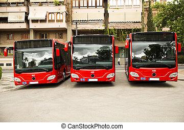 nouveau, moderne, autobus ville