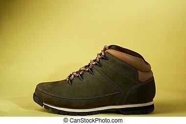 nouveau, moderne, chaussure, randonnée, une