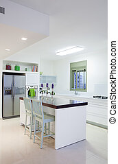 nouveau, moderne, cuisine, maison