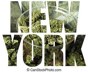 nouveau, monde médical, marijuana, york