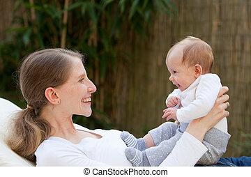 nouveau-né, aimer, elle, mère