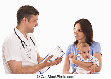 nouveau né, docteur femme