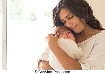 nouveau-né, femme