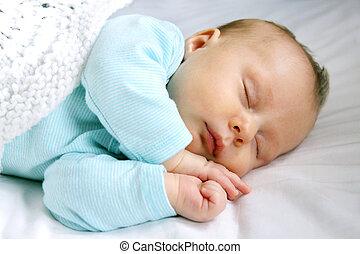 nouveau né, nourrisson, paisible, dormir