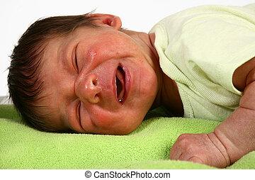 nouveau né, pleurer