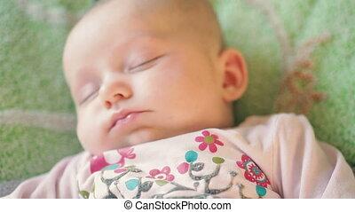 nouveau-né, précieux, pose