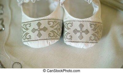 nouveau-né, robe, baptême