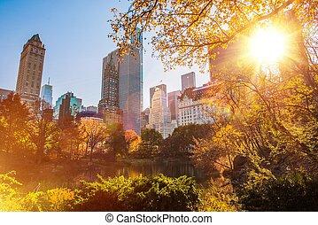 nouveau, parc, central, york