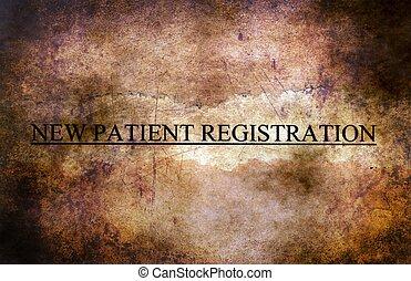 nouveau, patient, enregistrement
