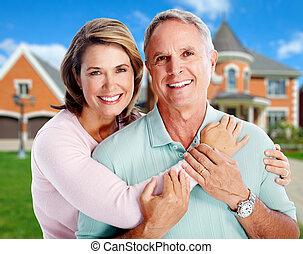 nouveau, personne agee, house., couple