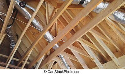 nouveau, plafond, retour, monté, construction, maison, ...