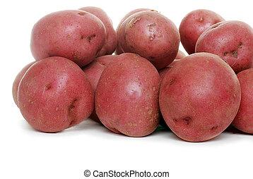 nouveau, pommes terre rouges