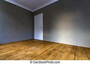 bleu salle plancher peint sombre bois murs int rieur. Black Bedroom Furniture Sets. Home Design Ideas