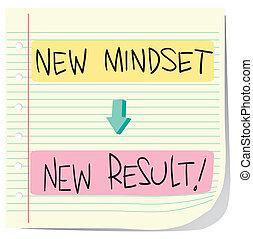 nouveau, résultat, mindset
