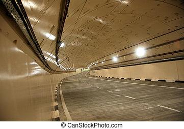 nouveau, route, tunnel2
