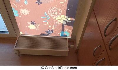 nouveau, salle moderne, radiateur, chauffage