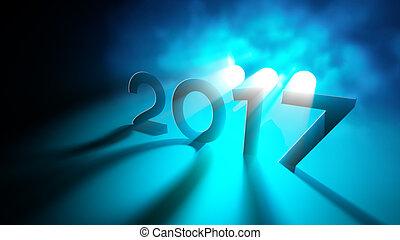 nouveau, salutations, année
