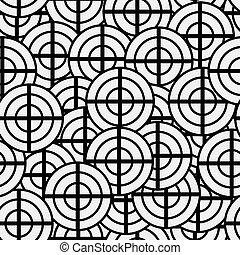 nouveau, seamless, textuur, gedaantes, motieven, ontwerp, geometrisch