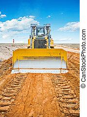 nouveau, site construction, bulldozzer