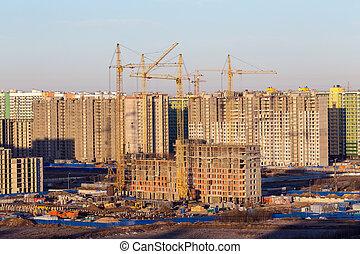 nouveau, site construction, district
