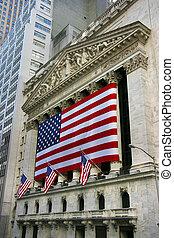 nouveau, stockage, york, échange