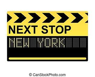 nouveau, suivant, arrêt, york, signe