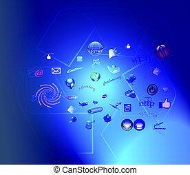 nouveau, technologies, internet