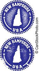 nouveau, timbres, hampshire, usa