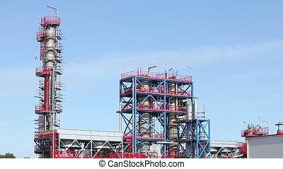 nouveau, usine pétrochimique