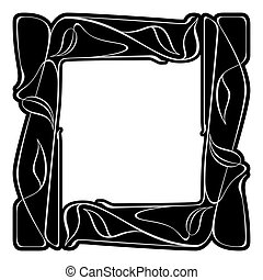 nouveau, vector, kunst, frame.