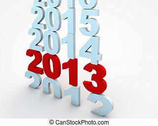 nouveau, veille, 2013, année